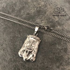 Jesus Christ Pendant Stainless Steel Necklace
